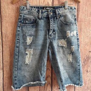Carbon Bermuda Denim Shorts Size 28